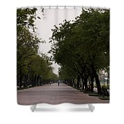 Park Leading To The King Of Thailands Palace Shower Curtain