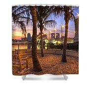 Park On The West Palm Beach Wateway Shower Curtain
