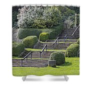 Park Stairs Shower Curtain