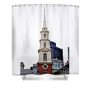 Park Street Church Boston Massachusetts Shower Curtain