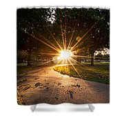Park Sunburst Portrait Shower Curtain