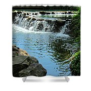 Park Waterfall Shower Curtain