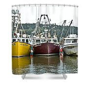 Parked Fishing Boats Shower Curtain