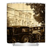 Parked Model A's Shower Curtain