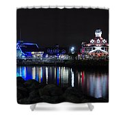 Parker's Lighthouse Reflections Shower Curtain