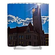 Parkersburg Courthouse Shower Curtain