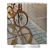 Parking On The Street At Sundown Shower Curtain