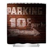Parking Ten Cents Shower Curtain