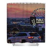 Parking Wheel Shower Curtain