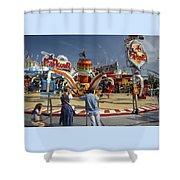Parkour Shower Curtain