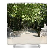 Parkway Chateau Chenonceaux  France Shower Curtain