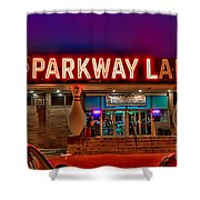Parkway Lanes Shower Curtain