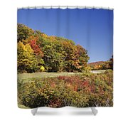 Parkway Road In North Carolina Shower Curtain