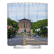 Parkway View Of The Museum Of Art Shower Curtain
