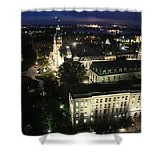 Parlament Quebec At Night  Shower Curtain