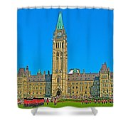 Parliament Building In Ottawa-on Shower Curtain