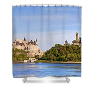 Parliament Buildings And The Fairmont Shower Curtain