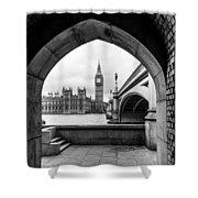 Parliament Through An Archway Shower Curtain