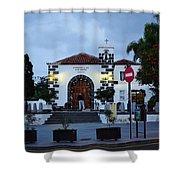 Parraquia De San Amaro. Puerto De La Cruz By Night Shower Curtain