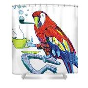 Parrot Cartoon Shower Curtain
