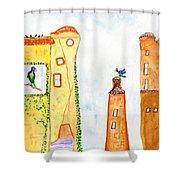 Parrot Enchantment  Shower Curtain