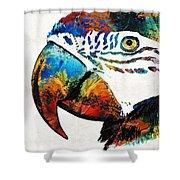 Parrot Head Art By Sharon Cummings Shower Curtain
