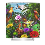 Parrot Jungle Shower Curtain