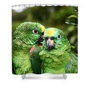 Parrot Whispers Shower Curtain