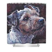 Parson Russell Terrier Shower Curtain
