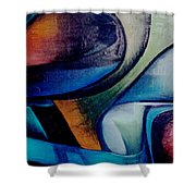 Part Of An Abstract Painting Shower Curtain