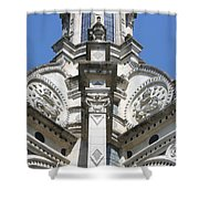 Part Of The Crown - Palace Chambord - France  Shower Curtain
