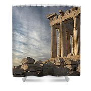 Parthenon From The South Shower Curtain