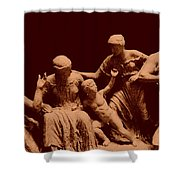 Parthenon Sculpture Shower Curtain