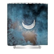 Partial Solar Eclipse In Cloud 1 Oct Shower Curtain