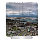 Partially Thawed Lake Erie  Shower Curtain