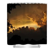 Parting Clouds Shower Curtain