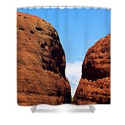 Parting Rock Shower Curtain