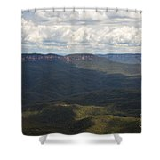 Partly Cloudy Day In The Blue Mountains Shower Curtain