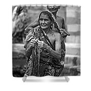 Partners Bw Shower Curtain
