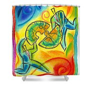 Partnership Shower Curtain by Leon Zernitsky