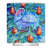 Partridge In A Pear Tree  Shower Curtain