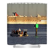 Party Boats Shower Curtain