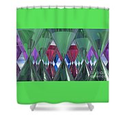 Party Glasses Shower Curtain