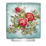 Party Of Flowers  Shower Curtain