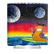 Party On Slurms Shower Curtain by Drew Goehring