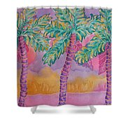 Party Palms Shower Curtain