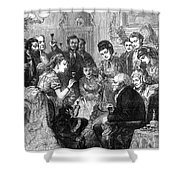 Party Toast, 1872 Shower Curtain