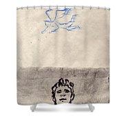 Paso Un Angel Shower Curtain