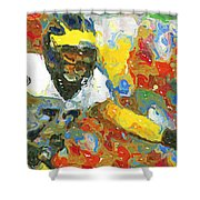 Pass Block In Color Shower Curtain