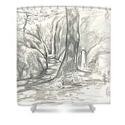 Passageway At Elephant Rocks Shower Curtain